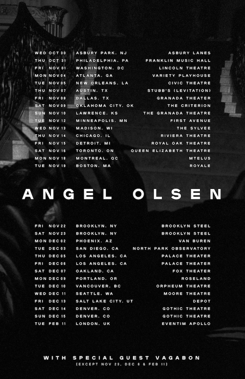 angel olsen 2019 tour dates north america poster flyer