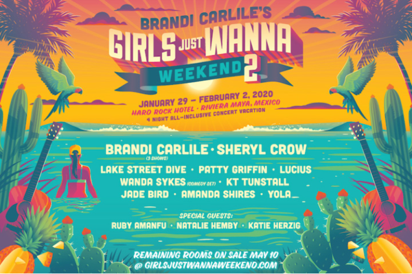 brandie carlile girls just wanna weekend 2 2020 lineup poster