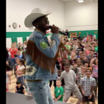 Lil Nas X Lander elementary school performance Old Town Road