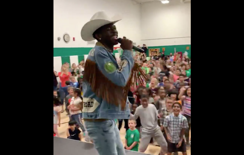 Lil Nas X Lander elementary school performance Old Town Road