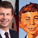 Pete Buttigieg and Mad Magazine's Alfred E. Neuman