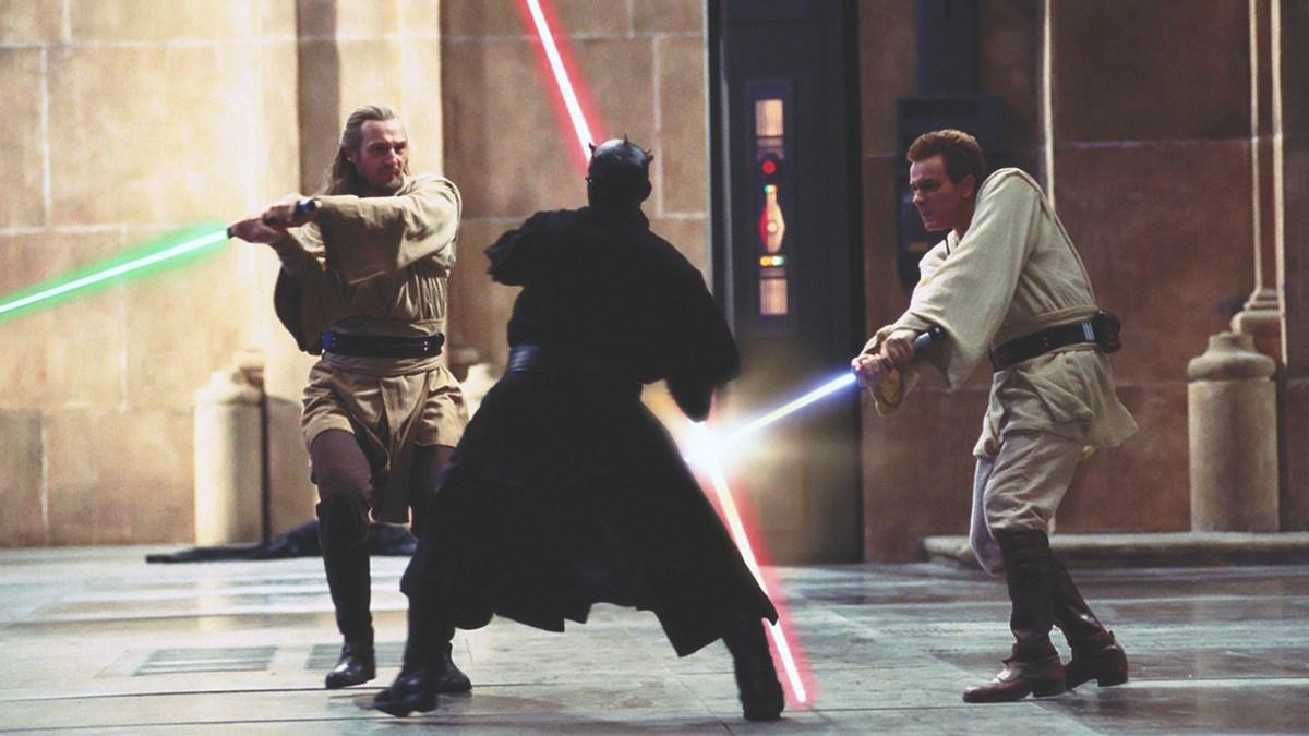 star wars episode I the phantom menace fight darth maul
