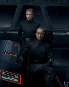 General Hux (Domhnall Gleeson) and Allegiant General Pryde (Richard E. Grant) in Star Wars: The Rise of Skywalker