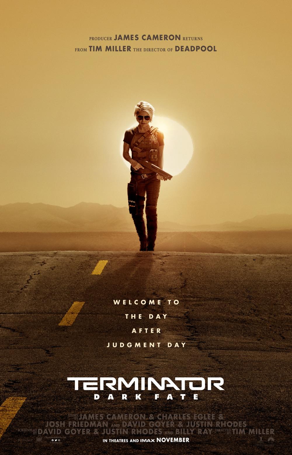 Sarah Connor returns in Terminator: Dark Fate Theatrical Poster (Paramount Pictures)