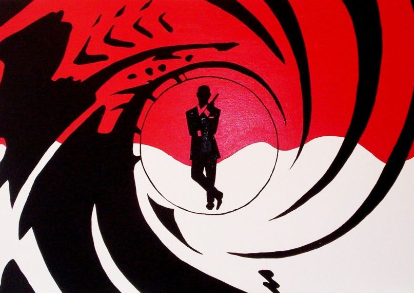 james bond 007 barrel logo