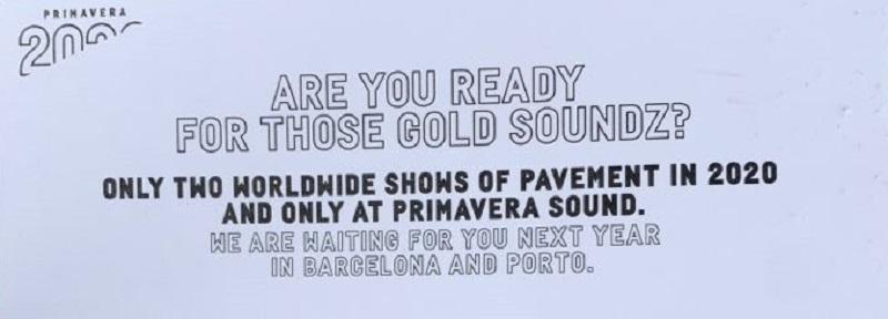 Pavement Reunion on Primavera Sound Flyer