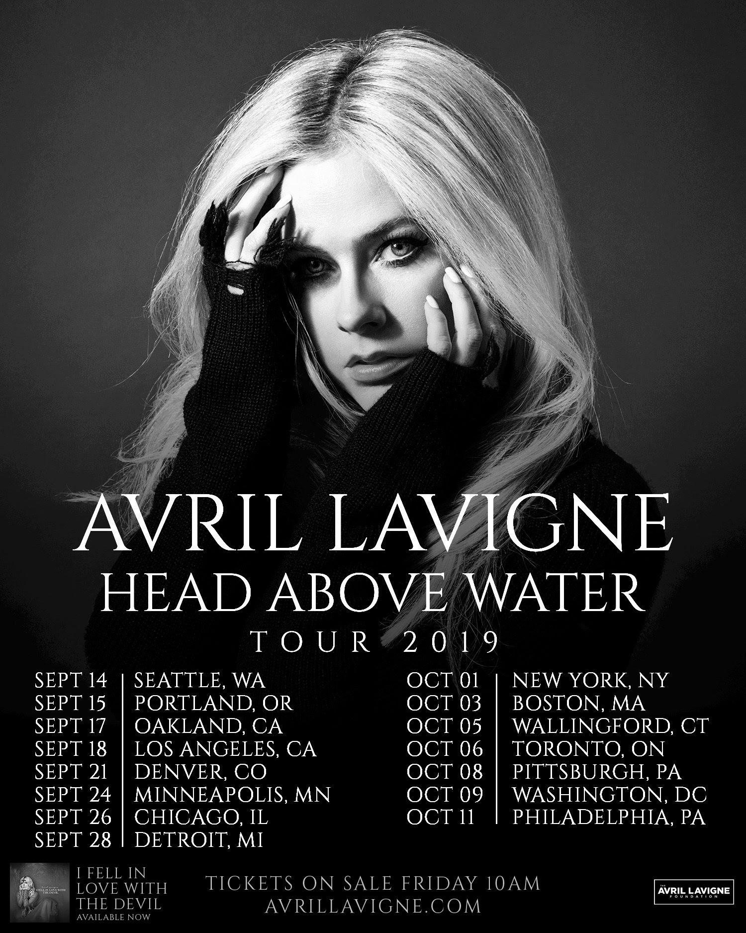 Avril Lavigne 2019 tour