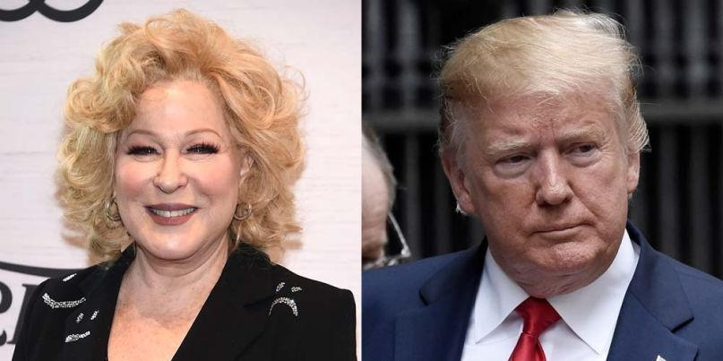 Bette Midler and Donald Trump