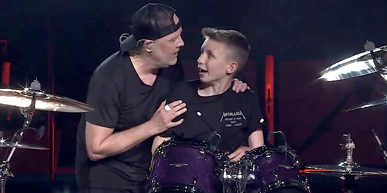 """Metallica joined onstage by 13-year-old drummer for """"Seek & Destroy"""": Watch"""