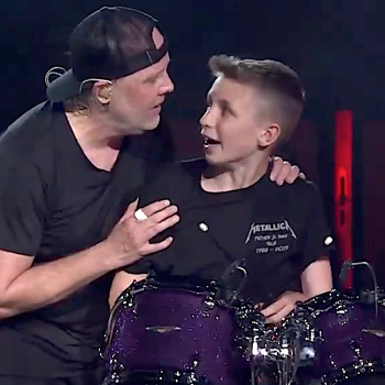 Metallica with 13 year old drummer Evan