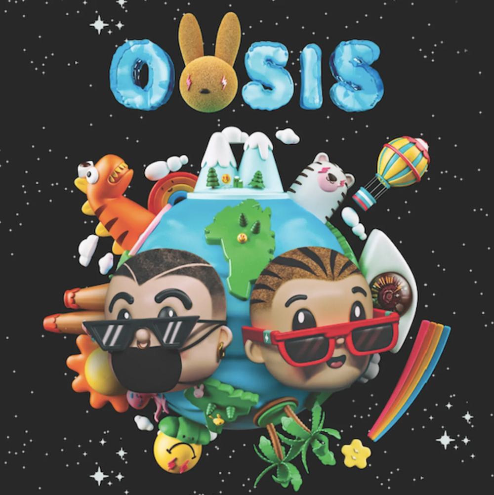 balvin bunny oasis artwork J Balvin and Bad Bunny unveil surprise album OASIS: Stream