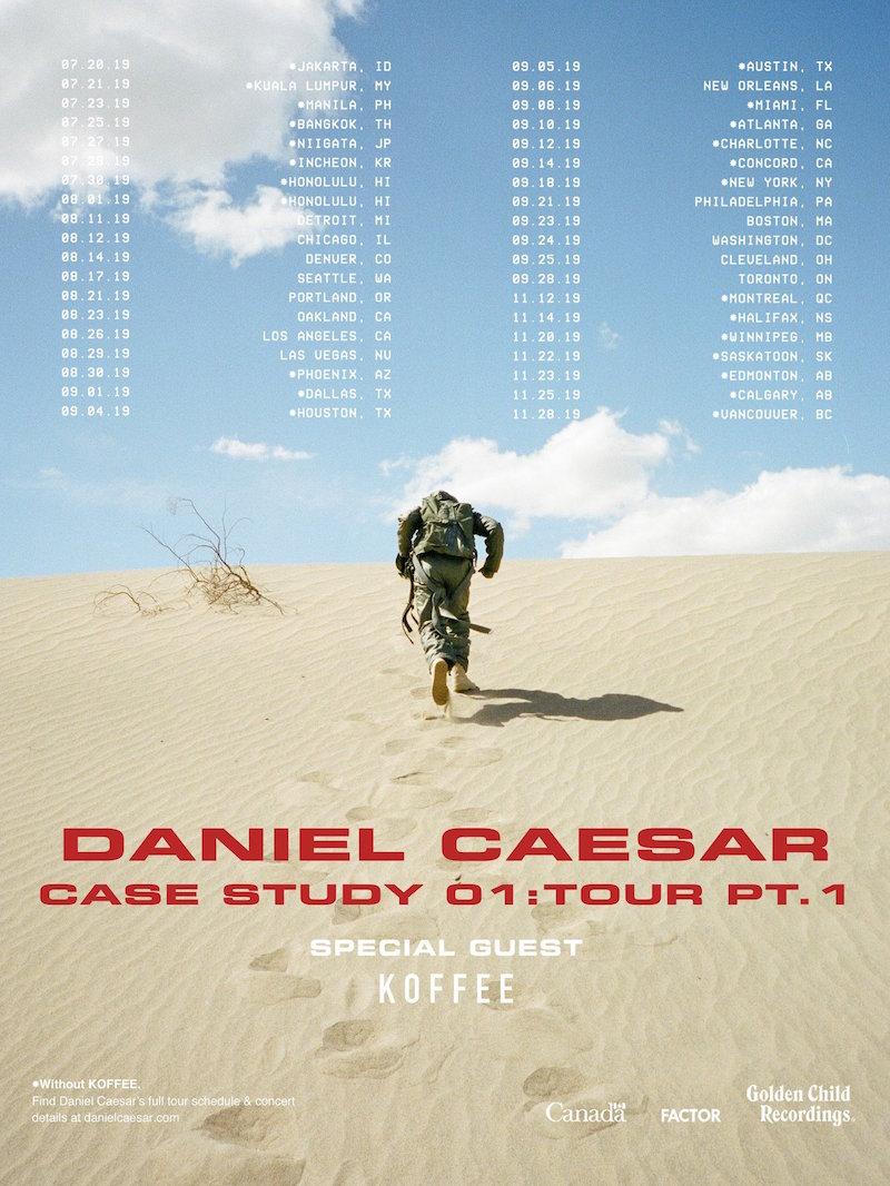 daniel caesar case study tour dates tickets Daniel Caesar returns with new album CASE STUDY 01: Stream