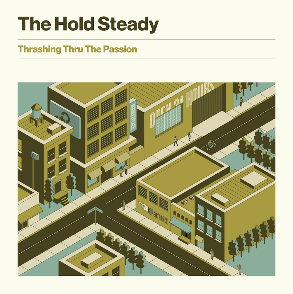 hold steady thrashing thru passion new album announce artwork cover The Hold Steady announce new album, Thrashing Thru the Passion, share Denver Haircut: Stream