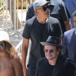 barack michelle obama u2 bono vacation france photos