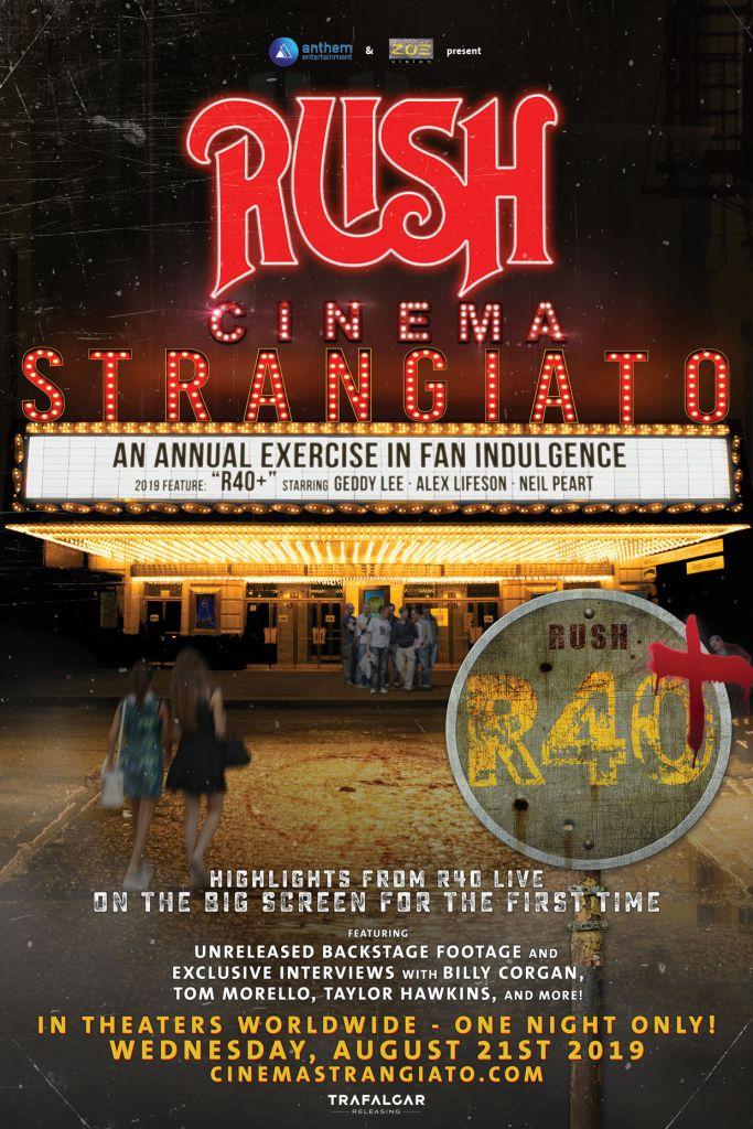 rush poster Rush announce new concert film Cinema Strangiato 2019
