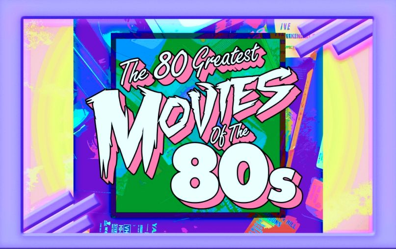 The 80 Greatest Movies of the '80s, artwork by Cap Blackard