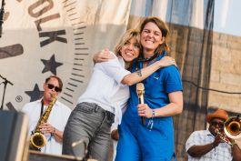 Brandi Carlile and Hurray for the Riff Raff's Alynda Segarra at♀♀♀♀: The Collaboration at Newport Folk Festival 2019