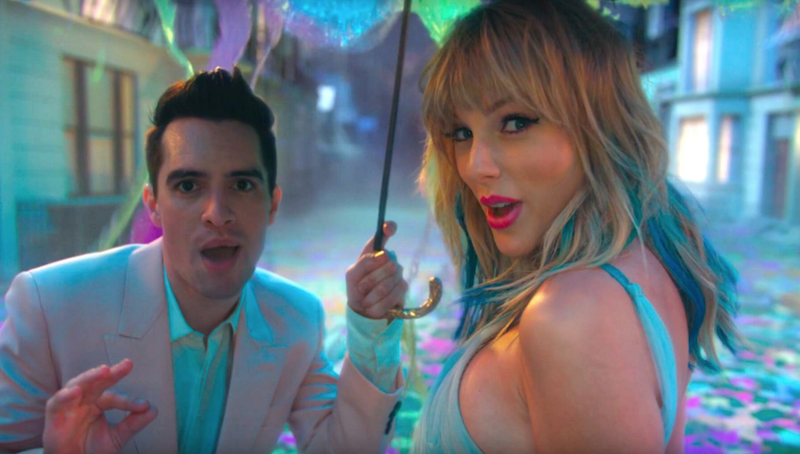 Brendon Urie and Taylor Swift in the ME! video Scooter Braun controversy
