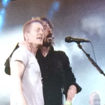 Foo Fighters' Dave Grohl and his medic