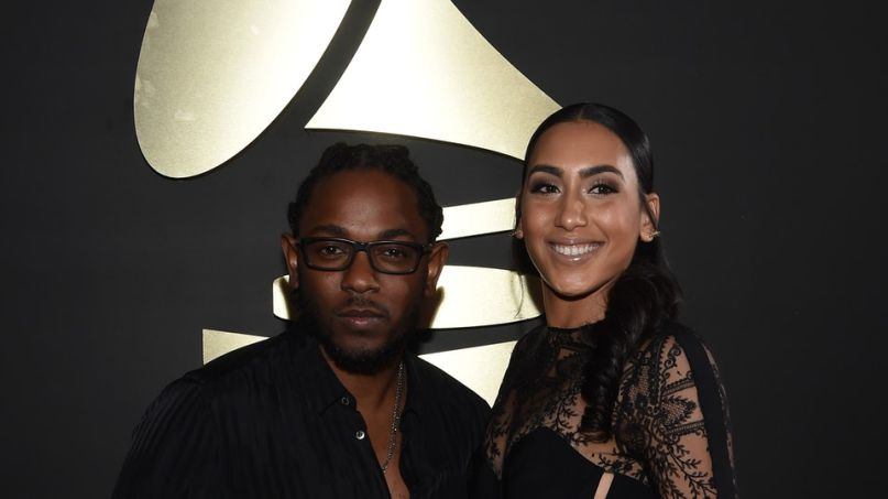 Kendrick Lamar and fiancée Whitney Alford