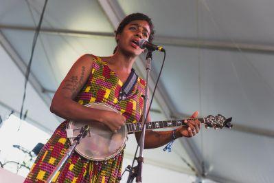 Leyla McCalla Our Native Daughters Newport Folk Festival 2019 Ben Kaye