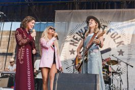 Sheryl Crow, Brandie Carlile, and Maren Morris at ♀♀♀♀: The Collaboration at Newport Folk Festival 2019