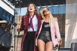 Brandie Carlile and Maren Morris at ♀♀♀♀: The Collaboration at Newport Folk Festival 2019 the highwomen