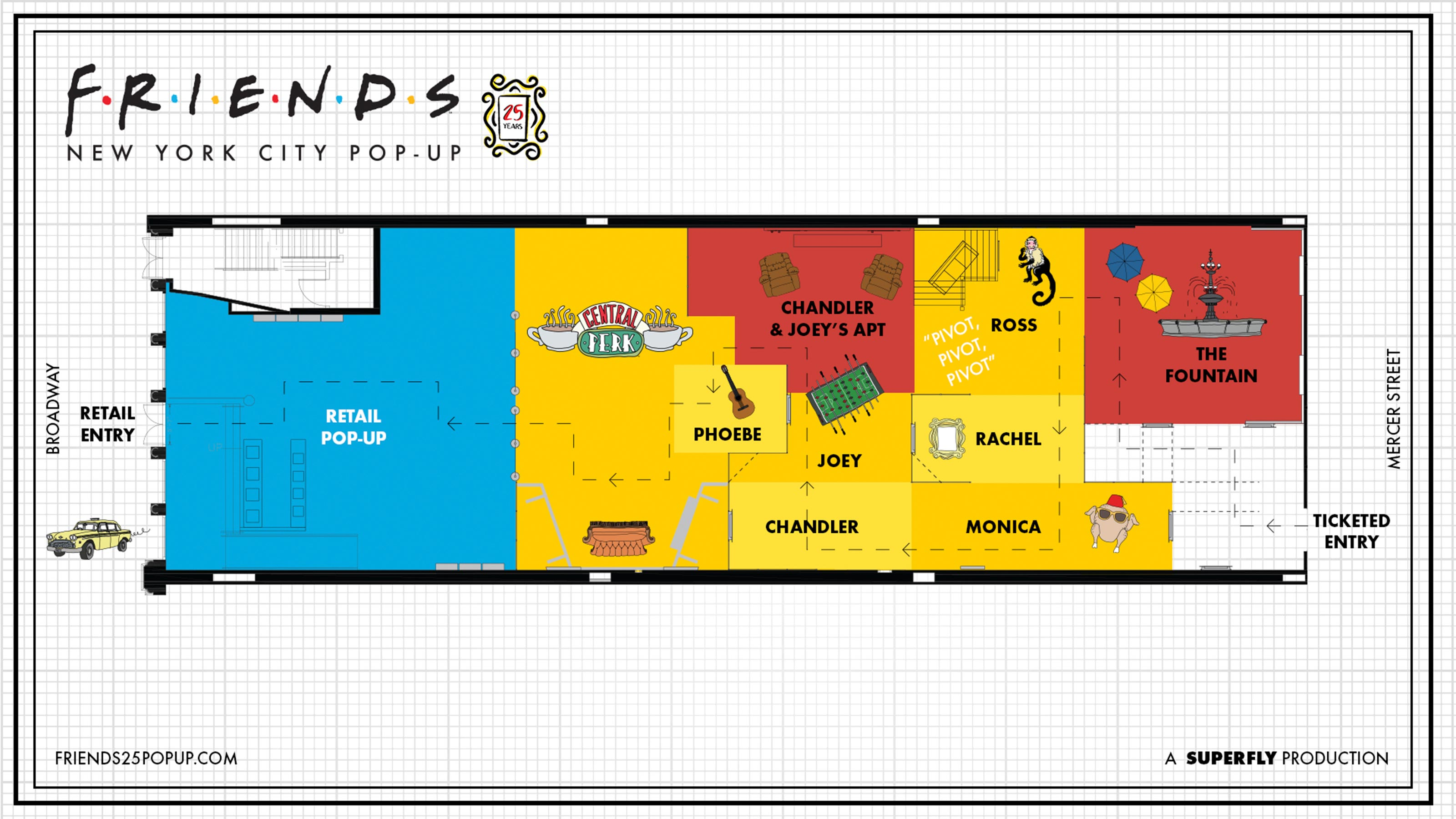 friends 25 pop up layout Friends pop up opening in New York City this fall