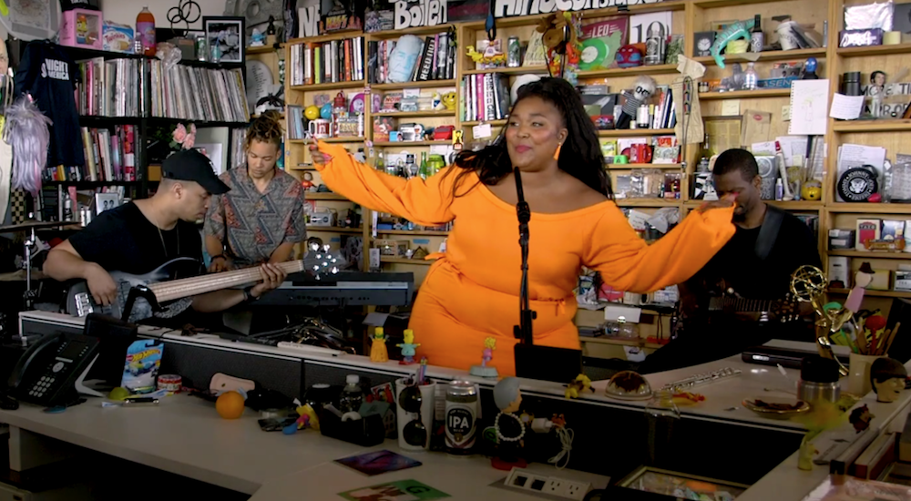 the truth butt invasion sweepstakes watch lizzo perform npr tiny desk concert consequence of 3113