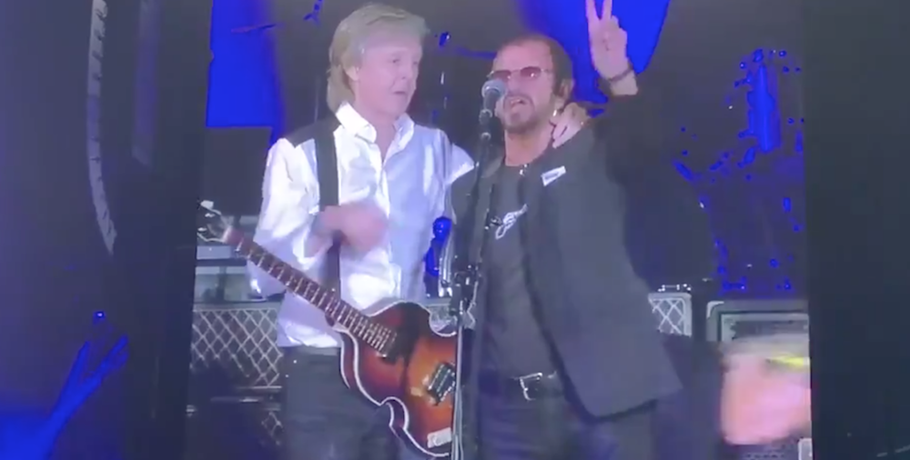 Paul McCartney and Ringo Starr reunite to perform Beatles classics in Los Angeles: Watch