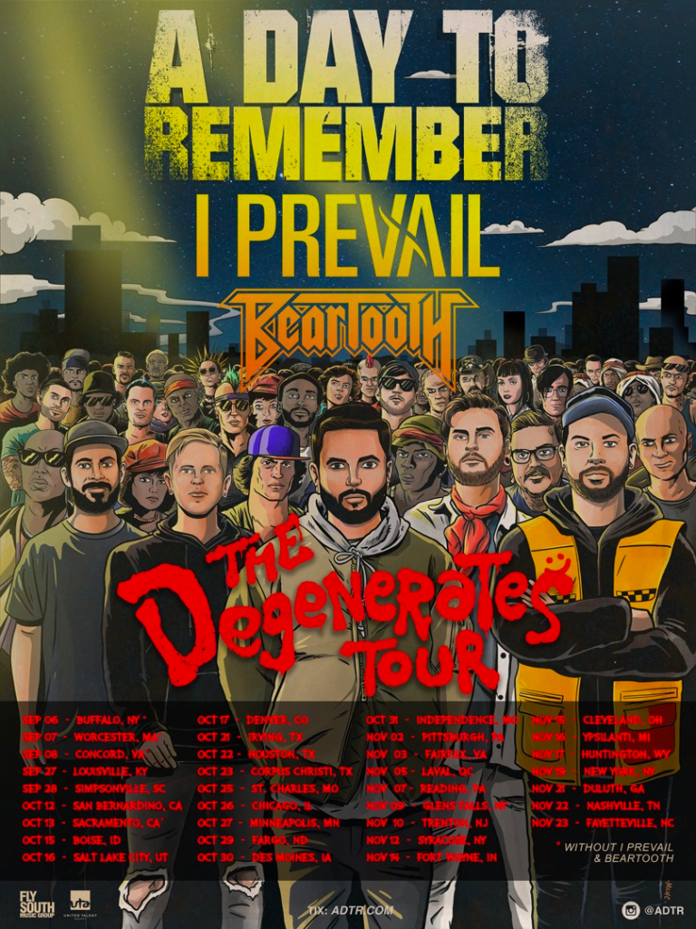 A Day To Remember - The Degenerates Tour Poster