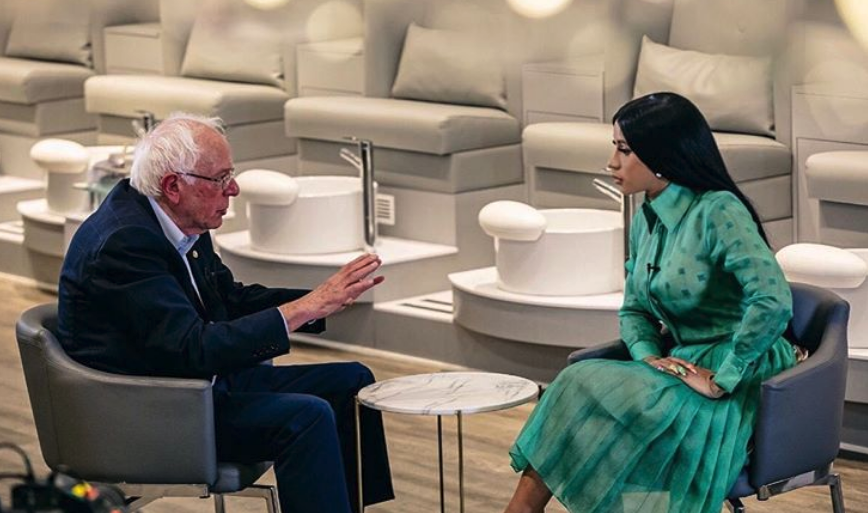 Cardi B interviews Bernie Sanders