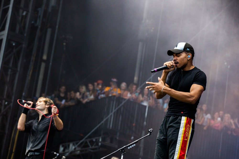 Chance the Rapper with Death Cab for Cutie at Lollapalooza 2019, photo by Madi Ellis