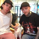 Frank Carter & The Rattlesnakes at Koneko Cat Cafe in NYC