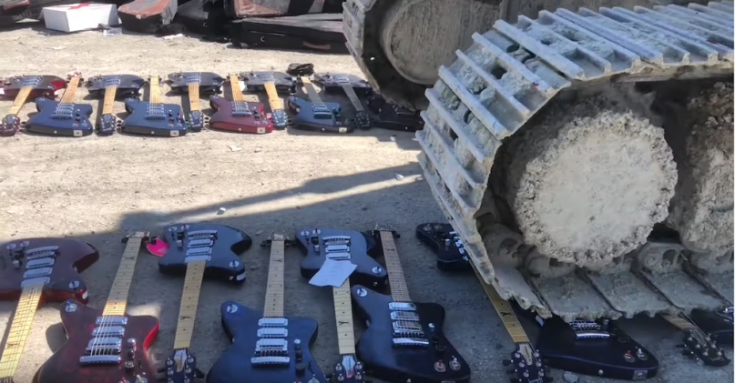Gibson Firebird X guitar destruction leaked video