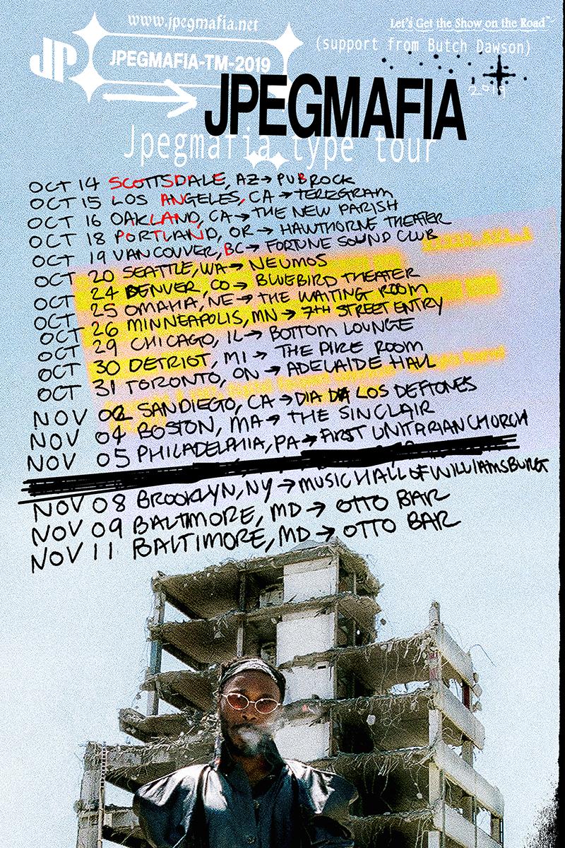 JPEGMAFIA tour 2019