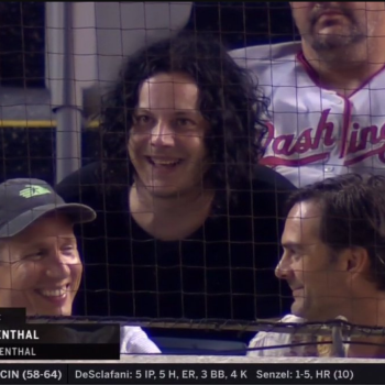 Jack White attending Nats game