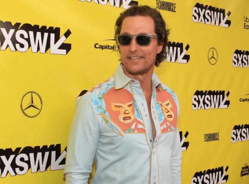 Matthew McConaughey, photo by Heather Kaplan University of Texas Austin Professor