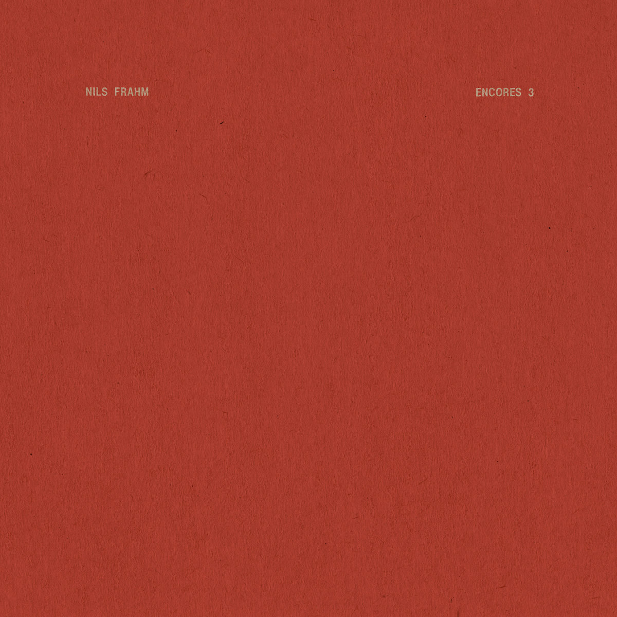 Nils Frahm Encores 3 EP cover artwork