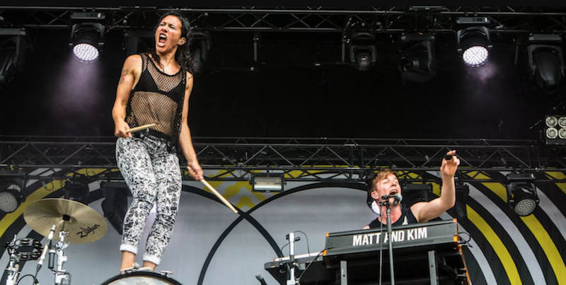 "Matt and Kim drummer tears ACL, but ""Grand 10th Anniversary Tour"" still on"