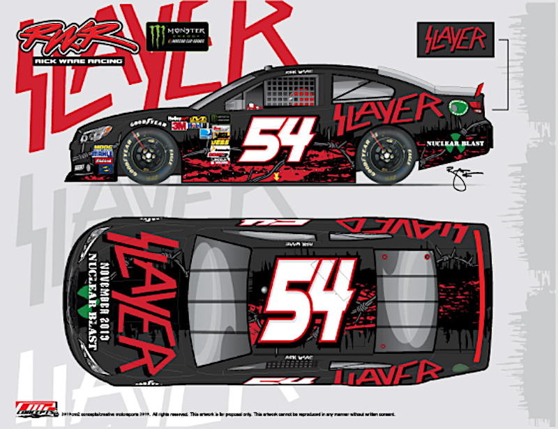 Slayer NASCAR 54 car full mockup