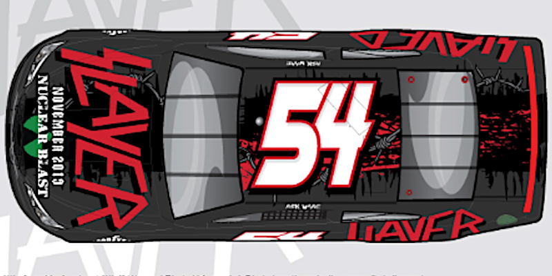 Slayer's iconic logo will cover No. 54 car at NASCAR race ahead of final tour leg