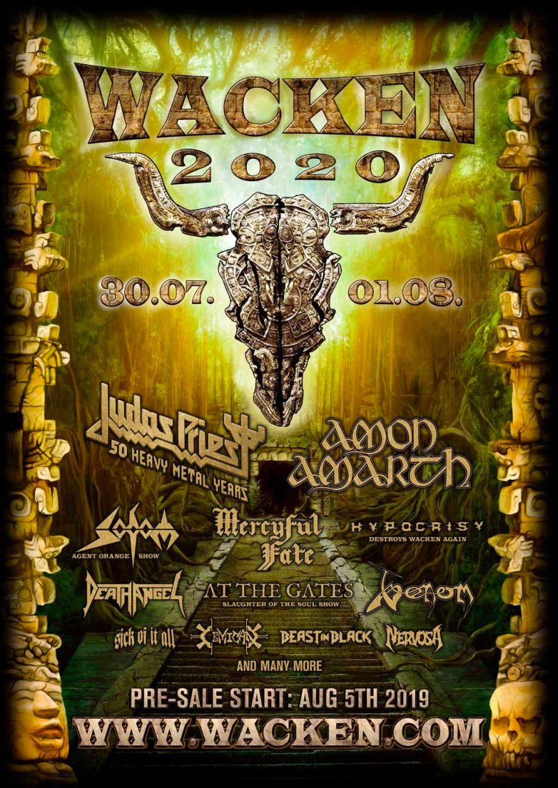 Wacken 2020 initial lineup poster