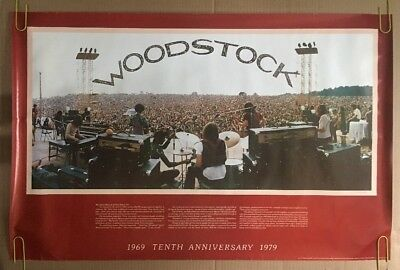 Woodstock Vintage Poster Original 1969 1979 Anniversary Music Memorabilia The Lost Woodstocks: How 1979 and 1989 Shaped Music Festival History