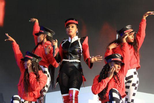 Janelle Monáe at Lollapalooza 2019, photo by Heather Kaplan