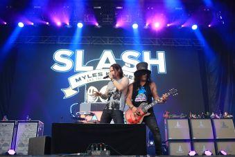 Slash at Lollapalooza 2019, photo by Heather Kaplan