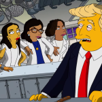 simpsons trump parody west wing story AOC