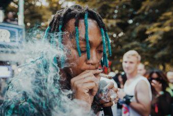 Tyla Yaweh at Lollapalooza 2019, photo by Nick Langlois