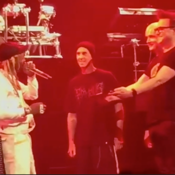 Blink-182 and Lil Wayne gift birthday blunt onstage weed