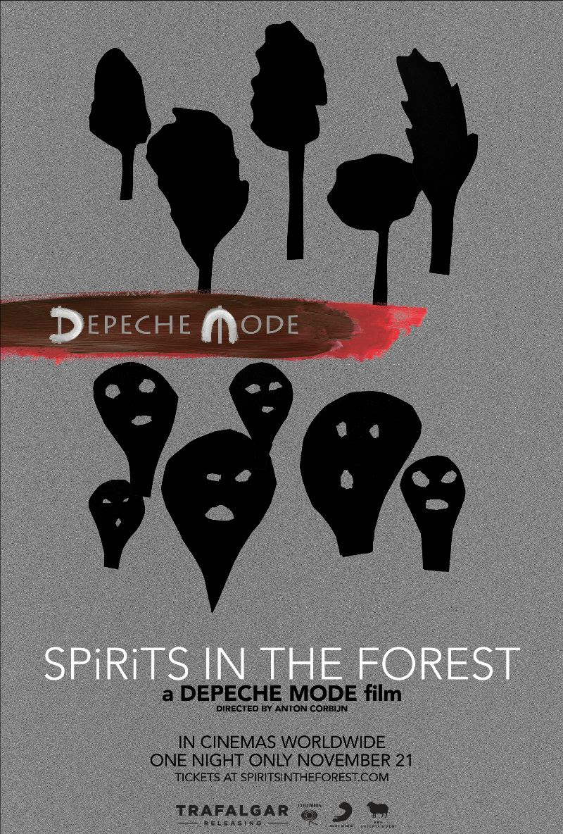 Dpeche Mode spirits in the forest concert film poster